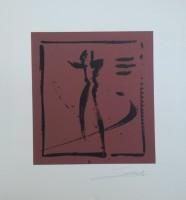 """Постер """"Абстракция. Пара на коричневом 1"""", р.36x33, арт.б/а - ДЕКАРТ - настоящая багетная мастерская на Московской!"""