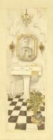 """Постер """"Charlene Olson. Ванная комната II"""", размер 20х51. арт. GOGP10375 - ДЕКАРТ - настоящая багетная мастерская на Московской!"""