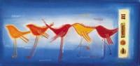 """Постер """"Абстракция птички"""", р.23x49, арт.Н30 - ДЕКАРТ - настоящая багетная мастерская на Московской!"""