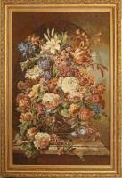 """Гобелен в раме """"Фламандский букет"""", размер 84х54, багет И 660-03 - Багетная мастерская ДЕКАРТ изготовление рам для картин, вышивок, зеркал"""