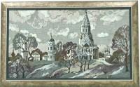 """Гобелен в раме """"Коломенское Вечер"""", размер 32х57,5, багет 674.2679 - Багетная мастерская ДЕКАРТ изготовление рам для картин, вышивок, зеркал"""