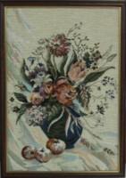 """Гобелен в раме """"Букет в кувшине"""", размер 46х31, багет ВК1- TS - Багетная мастерская ДЕКАРТ изготовление рам для картин, вышивок, зеркал"""