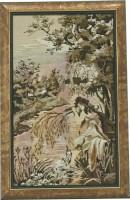 """Гобелен в раме """"Купальщица"""", размер 52х31, багет 674.2680 - Багетная мастерская ДЕКАРТ изготовление рам для картин, вышивок, зеркал"""