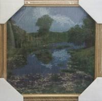 """Гобелен в раме """"На берегу реки"""", размер 35х35, багет 658С - Багетная мастерская ДЕКАРТ изготовление рам для картин, вышивок, зеркал"""