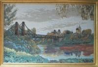 """Гобелен в раме """"Остров"""", размер 40х60, багет ЕМ 146.1033 - Багетная мастерская ДЕКАРТ изготовление рам для картин, вышивок, зеркал"""