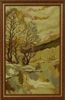 """Гобелен в раме """"Весна"""", размер 48х31  багет 02-08-07 - Багетная мастерская ДЕКАРТ изготовление рам для картин, вышивок, зеркал"""