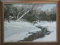 """Гобелен в раме """"Январь"""",  размер 52х71 багет 113 NO - Багетная мастерская ДЕКАРТ изготовление рам для картин, вышивок, зеркал"""