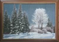 """Гобелен в раме """"Зима"""",  размер 50х72,5 багет 113 NO - Багетная мастерская ДЕКАРТ изготовление рам для картин, вышивок, зеркал"""