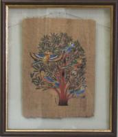 """Папирус между двух стекол """"Древо"""", размер 40*33,5, багет 193.004 - ДЕКАРТ - настоящая багетная мастерская на Московской!"""