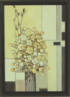 """Постер в раме  """"Абстракция. Букет"""", размер 35х25, багет 400.703.642 - Багетная мастерская ДЕКАРТ изготовление рам для картин, вышивок, зеркал"""