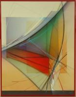 """Постер в раме  """"Абстракция. Линии"""", размер 56х71, багет 15.069 - Багетная мастерская ДЕКАРТ изготовление рам для картин, вышивок, зеркал"""