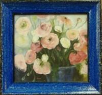 """Постер в раме  """"Букет цветов"""", размер 8х8, багет 513.402.305 - Багетная мастерская ДЕКАРТ изготовление рам для картин, вышивок, зеркал"""