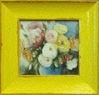 """Постер в раме  """"Букет роз"""", размер 8х8, багет 513.412.308 - Багетная мастерская ДЕКАРТ изготовление рам для картин, вышивок, зеркал"""