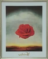 """Постер в раме  """"Дали. Медитативная роза"""", размер 50х40, багет 238 ОАС 702 - ДЕКАРТ - настоящая багетная мастерская на Московской!"""