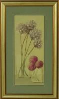 """Постер в раме  """"Две прозрачные вазы с цветами"""", размер 45х25, багет 501.5080-05 - Багетная мастерская ДЕКАРТ изготовление рам для картин, вышивок, зеркал"""