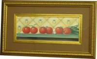 "Постер в раме  ""Кухня. Помидоры"", размер 18,5х33,5, багет 501.0367-03+кант - ДЕКАРТ - настоящая багетная мастерская на Московской!"