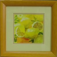 """Постер в раме  """"Лимон"""", размер 23х23, багет 0914.2391 - ДЕКАРТ - настоящая багетная мастерская на Московской!"""