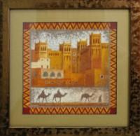 """Постер в раме  """"Марокко"""", размер 19х19, багет 085-43 - ДЕКАРТ - настоящая багетная мастерская на Московской!"""