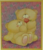 "Постер в раме  ""Медвежата"", размер 46х39, багет 101.1561 - ДЕКАРТ - настоящая багетная мастерская на Московской!"