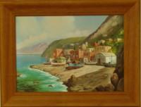 """Постер в раме  """"Морской пейзаж"""", размер 26х36, багет 431.071 - ДЕКАРТ - настоящая багетная мастерская на Московской!"""