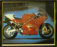 """Постер в раме  """"Мотоцикл"""", размер 25х20, багет 146 ОАС 253 - ДЕКАРТ - настоящая багетная мастерская на Московской!"""