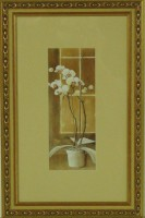 "Постер в раме  ""Орхидея левая"", размер 39х24, багет 0276.9848 - ДЕКАРТ - настоящая багетная мастерская на Московской!"