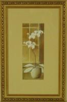"""Постер в раме  """"Орхидея правая"""", размер 39х24, багет 0276.9848 - ДЕКАРТ - настоящая багетная мастерская на Московской!"""