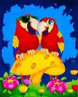 """Детский. """"Парочка попугаев"""", размер 20х25 - ДЕКАРТ - настоящая багетная мастерская на Московской!"""