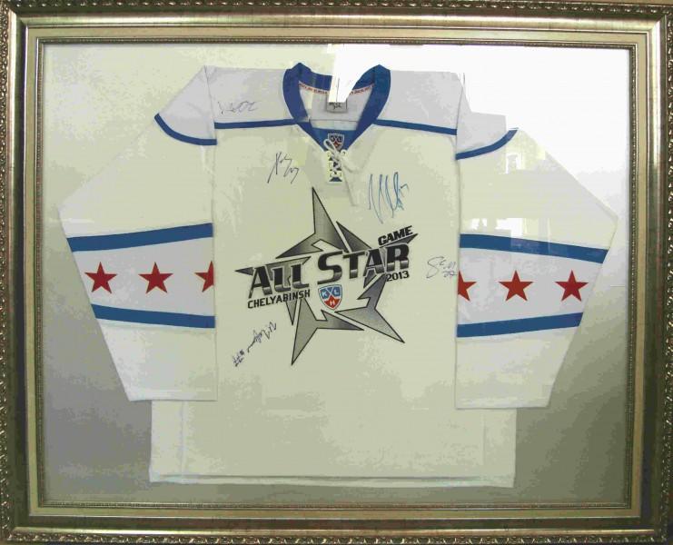 Хоккейная форма с автографами1, размер 120х100 см