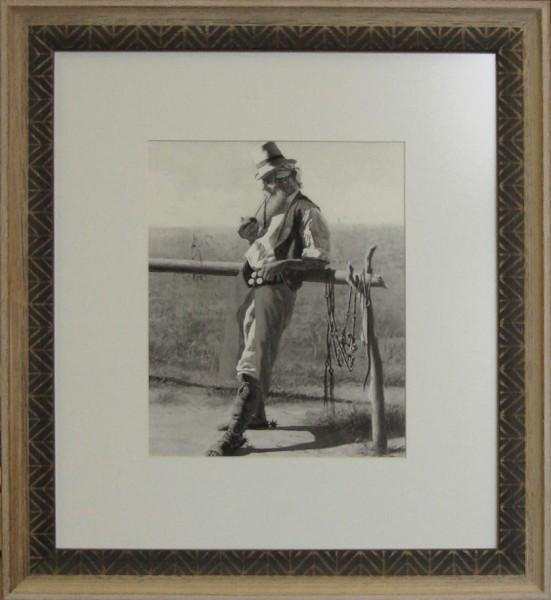 Гравюра Старик, размер 50 х 40 см