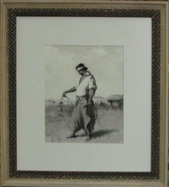 Гравюра Мужчина, размер 50х40 см