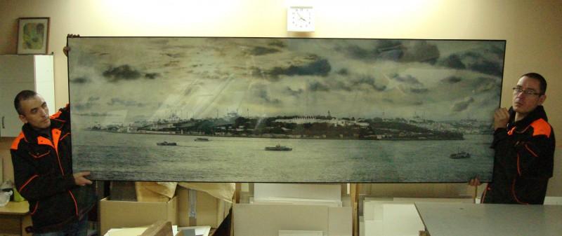Панорама Стамбула, размер 80х220 см